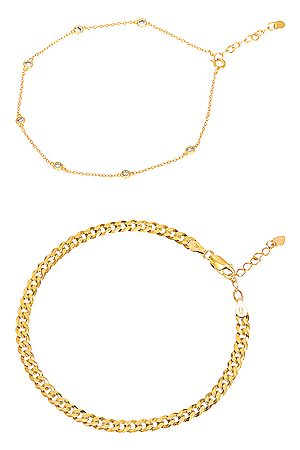 Jordan Road Jewelry For FWRD Endless Summer Anklet Stack in