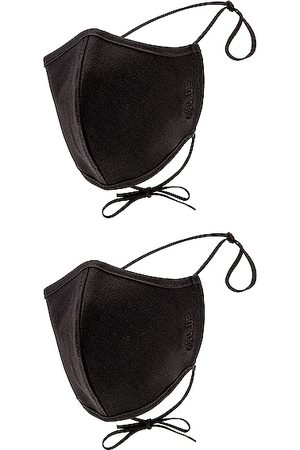 AGOLDE Two Pack Embroidered Cotton Masks in