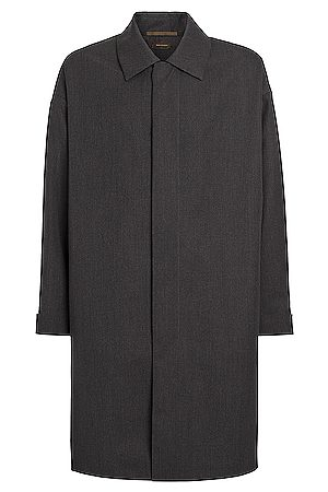 Fear of God Exclusively for Ermenegildo Zegna Trench Coat in Anthracite