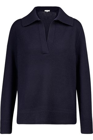 Vince Women Polo Shirts - Wool and cashmere polo sweater