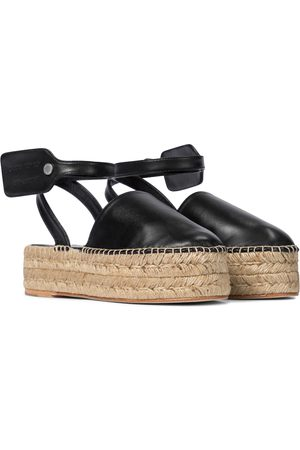OFF-WHITE Leather platform espadrilles
