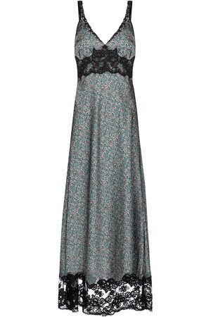 Paco rabanne Women Printed Dresses - Floral satin midi dress