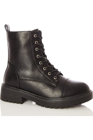 Quiz Lace Up Chunky Hiker Boots