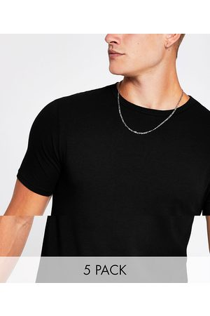 River Island Muscle fit t-shirt in 5 pack