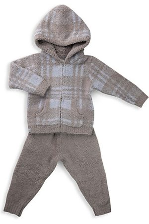 Barefoot Dreams Little Kid's CozyChic 2-Piece Plaid Hoodie & Jogger Pants Set