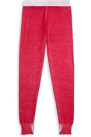 MINNIE ROSE Little Girl's & Girl's Cozy Reversed Frayed Joggers