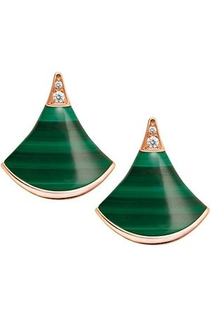 Bvlgari Divas' Dream 18K Rose , Malachite & Diamond Earrings