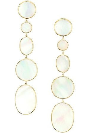 Ippolita Polished Rock Candy Extra Long 18K & Mother-Of-Pearl Mixed-Shape Earrings