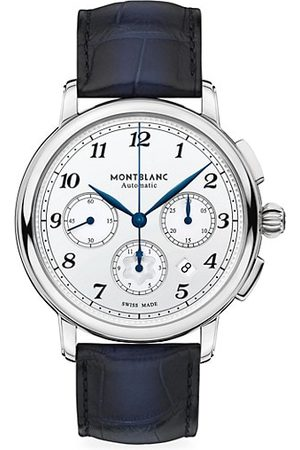 Mont Blanc Star Legacy Stainless Steel & Alligator Strap Automatic Chronograph Watch