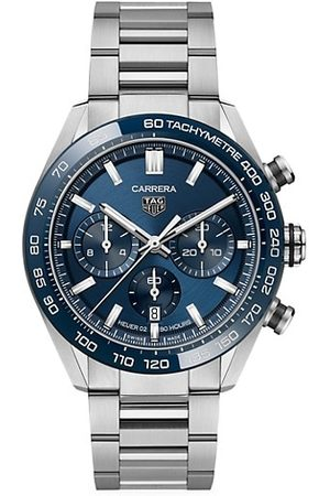 Tag Heuer Carrera 44MM Stainless Steel & Ceramic Bracelet Automatic Tachymeter Date Chronograph Watch