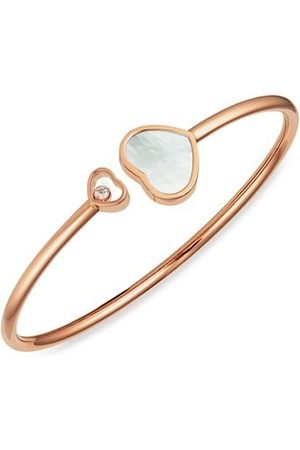 Chopard Happy Hearts 18K Rose , Diamond & Mother-Of-Pearl Bangle