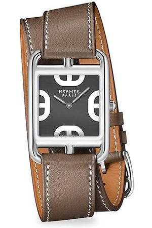 Hermès Cape Cod 29MM Stainless Steel & Leather Double-Wrap Strap Watch
