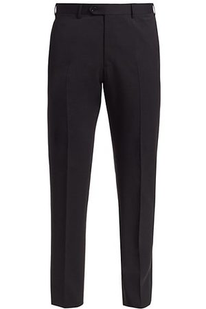 Armani Solid Wool Trousers