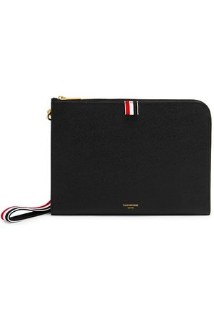 Thom Browne Small Pebbled Leather Wristlet
