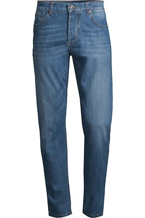 ISAIA Mid-Rise Washed Jeans