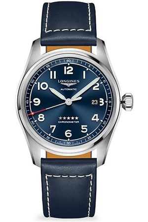 Longines Spirit Spirit Stainless Steel & Leather-Strap Watch