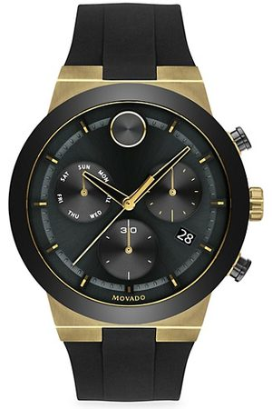 Movado BOLD Fushion Ion-Plated Stainless Steel Silocone-Strap Chronograph Watch