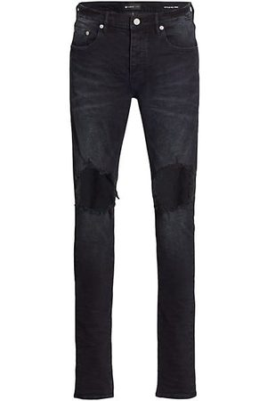 Purple Brand P002 Blowout Knees Distressed Jeans