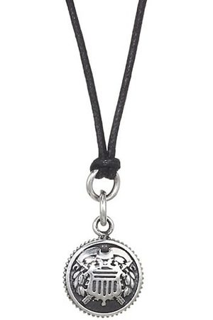 King Baby Studio American Voices Sterling Shield Pendant Necklace