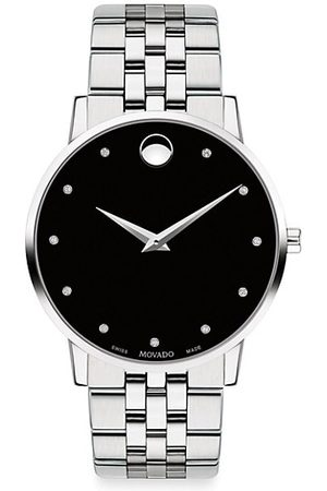 Movado Museum Classic Diamond-Marker Stainless Steel Bracelet Watch