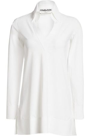 CHIARA BONI Parthea Collar V-Neck Tunic