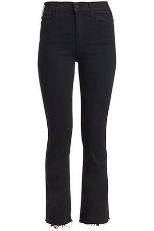 Mother The Hustler High-Rise Ankle Fray Jeans