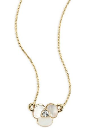 Kate Spade Disco Pansy Mother-Of-Pearl Pendant Necklace