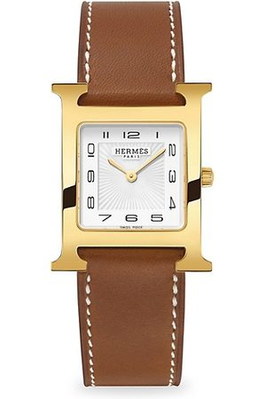 Hermès Watches - Heure H 26MM Goldplated & Leather Strap Watch