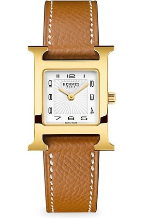 Hermès Watches - Heure H 21MM Goldplated & Leather Strap Watch