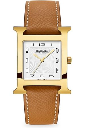 Hermès Watches - Heure H 30.5MM Goldplated & Leather Strap Watch