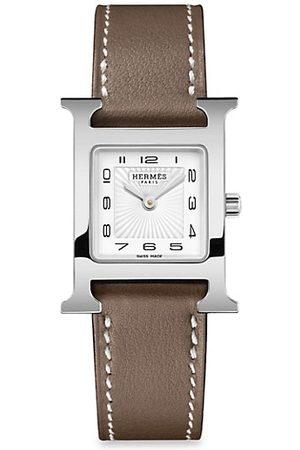 Hermès Watches - Heure H 21MM Stainless Steel & Leather Strap Watch