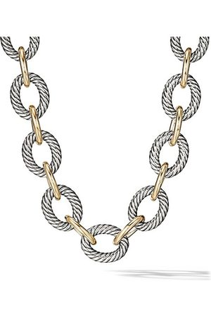 David Yurman Oval Extra-Large Link Necklace with 18K Yellow