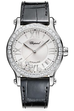 Chopard Happy Sport Stainless Steel, Diamond & Alligator-Strap Watch