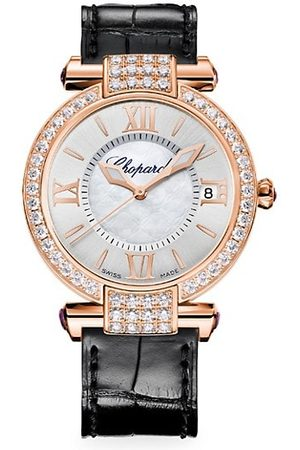 Chopard Imperiale 18K Rose , Diamond, Amethyst & Alligator-Strap Watch