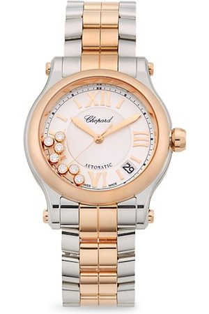 Chopard Happy Sport 18K Rose , Stainless Steel & Diamond Bracelet Watch