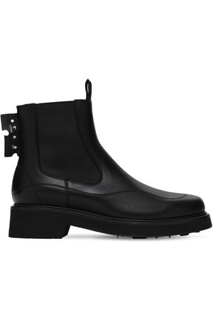 OFF-WHITE 40mm Leather Chelsea Boots