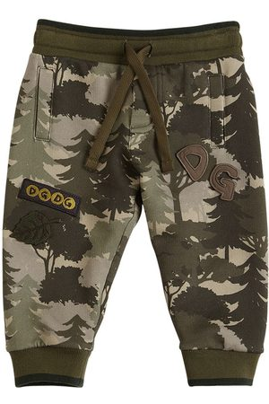 Dolce & Gabbana Boys Pants - Printed Cotton Sweatpants
