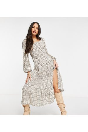 Missguided Maxi dress in check