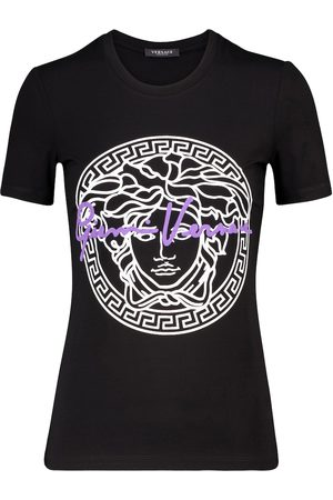 VERSACE Logo cotton T-shirt