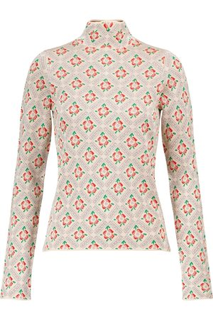 Paco rabanne Floral metallic sweater