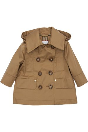 Burberry Girls Trench Coats - Double Breasted Cotton Trench Coat