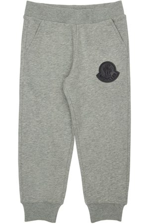 Moncler Girls Leggings - Cotton Sweatpants W/ Logo Patch
