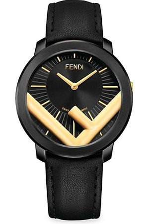 Fendi Run Away Stainless Steel & Leather-Strap Watch