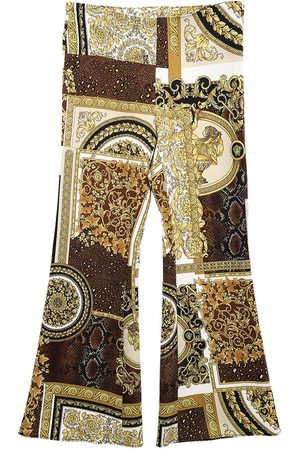 VERSACE Baroque Print Stretch Cady Pants