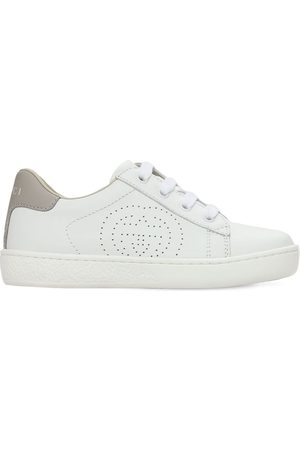Gucci Girls Sneakers - New Ace Leather Strap Sneakers