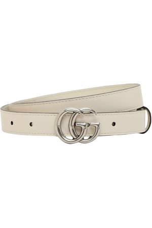 Gucci 2cm Gg Marmont Leather Belt