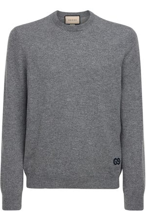 Gucci Gg Embroidery Cashmere Cardigan