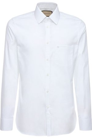 Gucci Embroidery Oxford Cotton Shirt