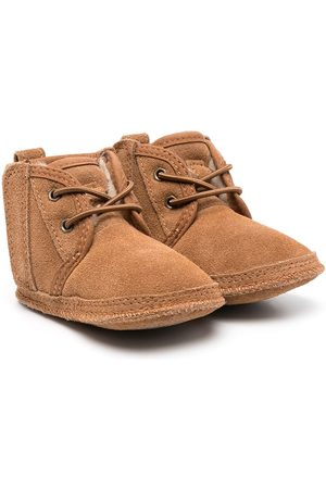 UGG Fur-lined lace boots