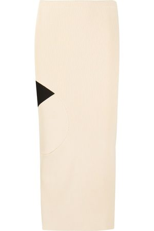 OFF-WHITE Ribbed pencil skirt